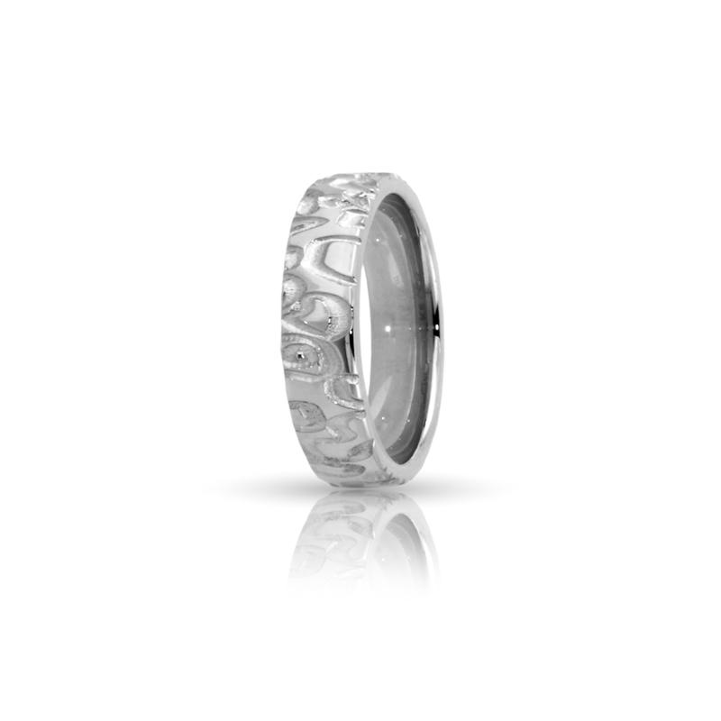 Romagioielli White Gold Wedding Ring Mod Nairobi