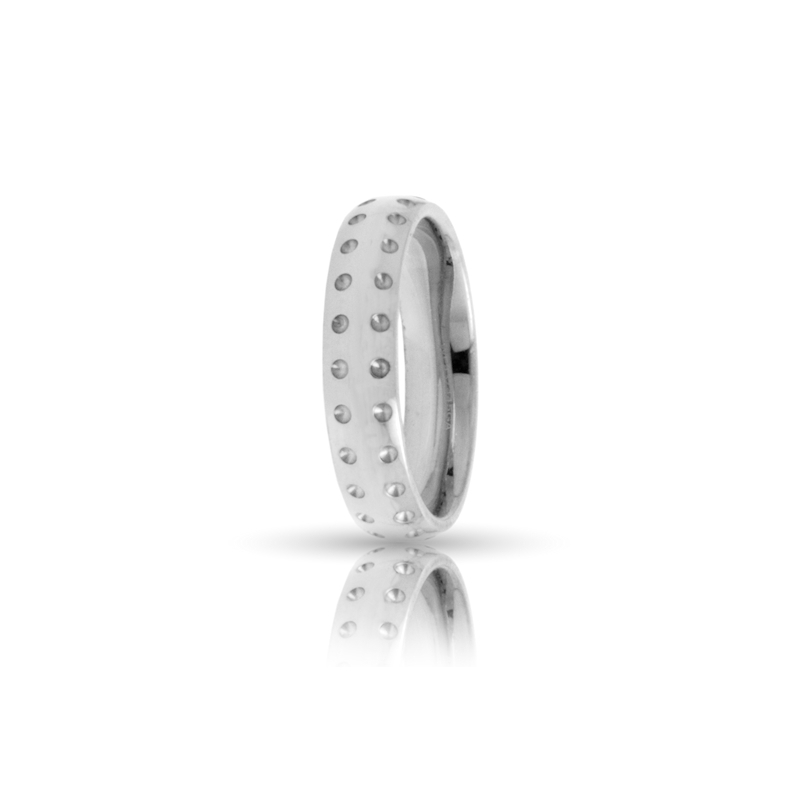 Romagioielli White Gold Wedding Ring Mod Asia