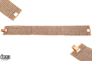 Bracciale tennis 11 fili in ottone rosè Cm. 18,0 - Coll. Wedding Luxury