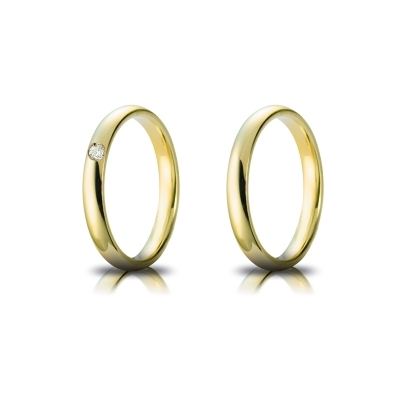 Yellow Gold Wedding Ring mod. Confort mm. 3