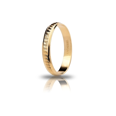 UNOAERRE 18Kt Yellow Gold Engagement Ring Mod. Margherita