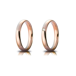 Rose Gold Engagement Ring Mod. Confort mm. 3,5