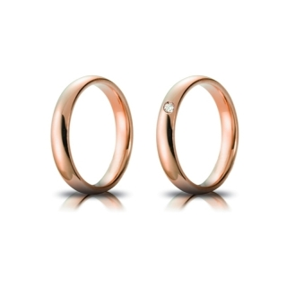 Rose Gold Engagement Ring Mod. Confort mm. 4
