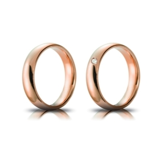Rose Gold Engagement Ring Mod. Confort mm. 4,5