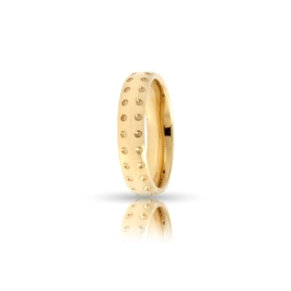 Yellow Gold Engagement Ring Mod. Asia mm. 4,5