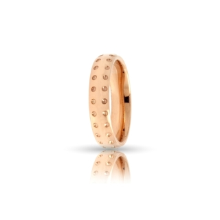 Rose Gold Engagement Ring Mod. Asia mm. 4,5
