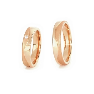 Rose Gold Engagement Ring Mod. Marika mm. 4,5