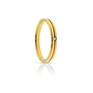 Yellow Gold Engagement Ring Mod. Sara mm. 2,5