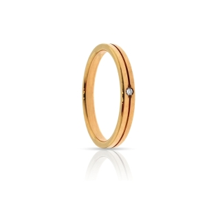 Rose Gold Engagement Ring Mod. Sara mm. 2,5