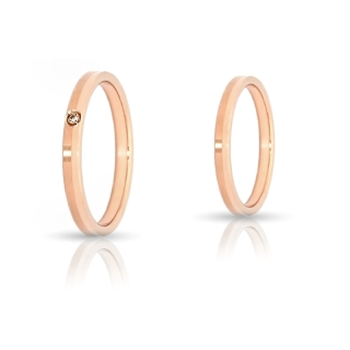 Rose Gold Engagement Ring Mod. Priscilla mm. 2,5