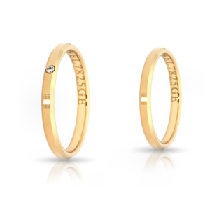 Yellow Gold Engagement Ring Mod. Serena mm. 2,5