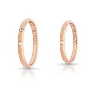 Rose Gold Engagement Ring Mod. Serena mm. 2,5