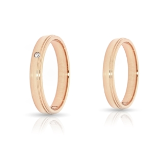 Rose Gold Engagement Ring Mod. Sofia mm. 3,7