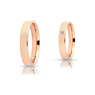 Rose Gold Engagement Ring Mod. Virginia mm. 4