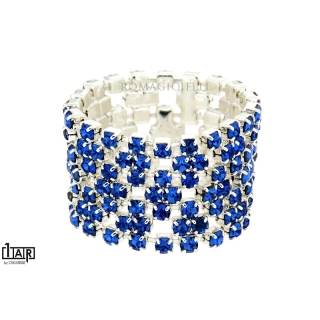 White Brass Crystal Sapphire Ring - Coll. Wedding Luxury