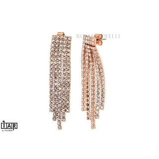 Rose Brass 5 Wires Riviera Earrings - Coll. Wedding Luxury