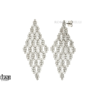 Orecchini croce cartier in ottone bianco - Coll. Wedding Luxury