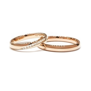 Rose Gold Engagement Ring Mod. Confort mm. 3