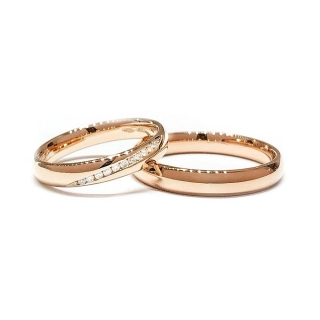 Rose Gold Wedding Ring Mod. Confort mm. 3,5