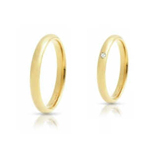 Yellow Gold Wedding Ring mod. Francesina Comoda mm. 2,8