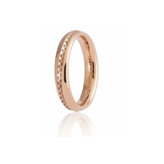 UNOAERRE Wedding Ring in 18k Rose Gold Mod. Infinito with diamonds - Coll. 9.0