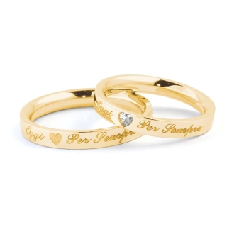 Yellow Gold Wedding Ring mod. Verona mm. 3,30