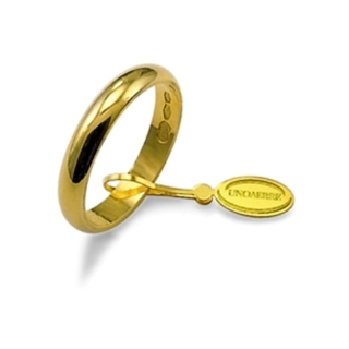 UNOAERRE Wedding Ring in 18k Yellow Gold mod. Classic Gr. 3