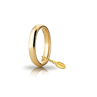 UNOAERRE Wedding Ring in 18k Yellow Gold mod. Comoda 3,5 mm.