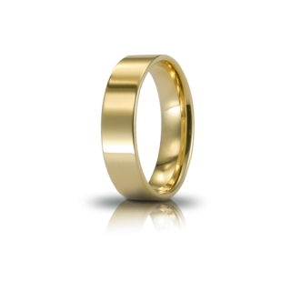 UNOAERRE Wedding Ring in 18k Yellow Gold mod. Cerchio di Luce 5 mm.