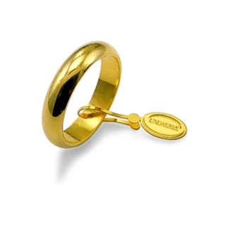 UNOAERRE Wedding Ring in 18k Yellow Gold mod. Classic Gr. 7