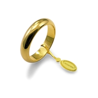 UNOAERRE Wedding Ring in 18k Yellow Gold mod. Classic Gr. 8