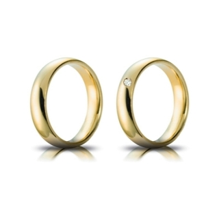 Yellow Gold Wedding Ring mod. Confort mm. 4,5