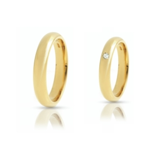 Yellow Gold Wedding Ring mod. Italiana mm. 3,8