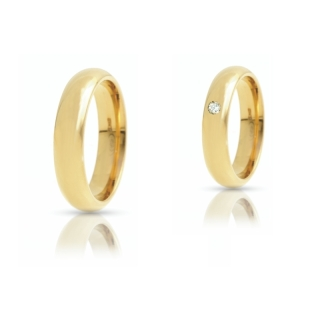Yellow Gold Wedding Ring mod. Italiana mm. 4,3