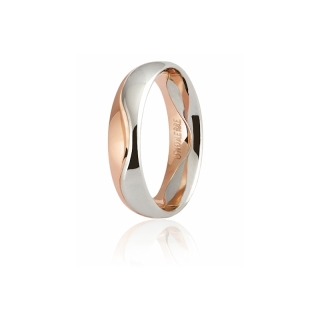 UNOAERRE 18Kt Two-Color Gold Wedding Ring Mod. Galassia - Coll. 9.0