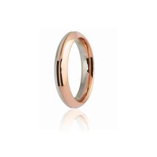UNOAERRE 18Kt Two-Color Gold Wedding Ring Mod. Eterna - Coll. 9.0