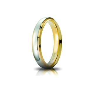 UNOAERRE 18Kt Two-Color Gold Wedding Ring Mod. Cassiopea