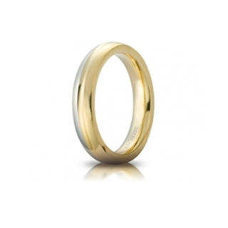 UNOAERRE 18Kt Two-Color Gold Wedding Ring Mod. Eclissi