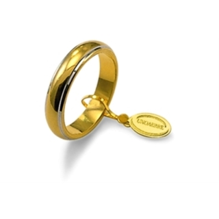 UNOAERRE 18Kt Two-Color Gold Wedding Ring Mod. Classic Gr. 7,00