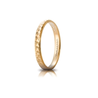 UNOAERRE 18Kt Yellow Gold Engagement Ring Mod. Mimosa