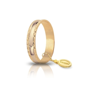 UNOAERRE 18Kt Yellow Gold Engagement Ring Mod. Anemone