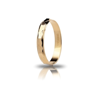 UNOAERRE 18Kt Yellow Gold Engagement Ring Mod. Genziana
