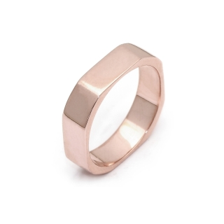 Rose Gold Engagement Ring Mod. Mykonos mm. 4,5