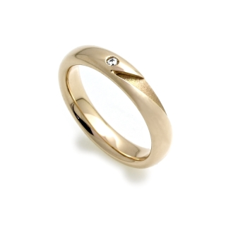 Yellow Gold Engagement Ring Mod. Ischia mm. 4