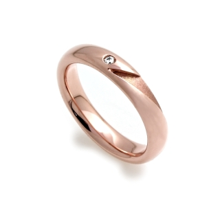 Rose Gold Engagement Ring Mod. Ischia mm. 4