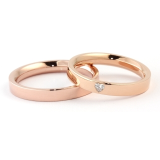 Rose Gold Engagement Ring Mod. Verona mm. 3,3